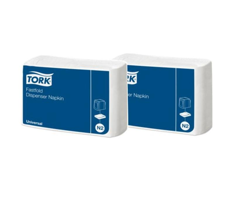 Tork - Navulverpakking dispenserservet - 1-laags fastfold - 600 stuks - Wit