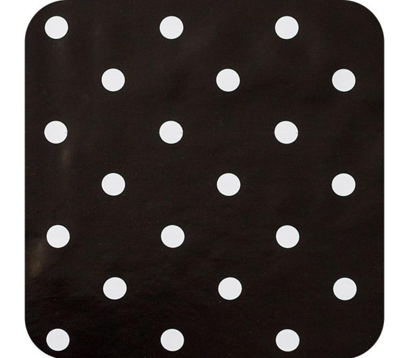 Europees Eco tafelzeil zwartwit grote stip 2,5M