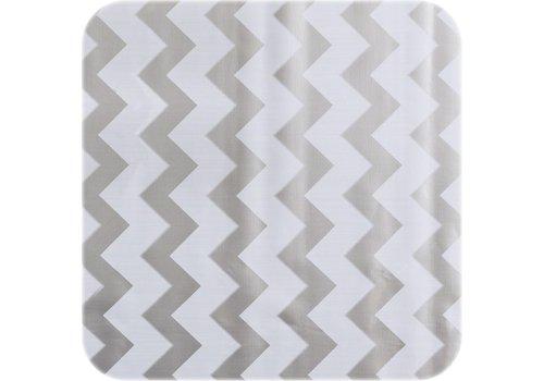 MixMamas Tafelzeil op rol Zigzag zilver rol 11m x 1,20m