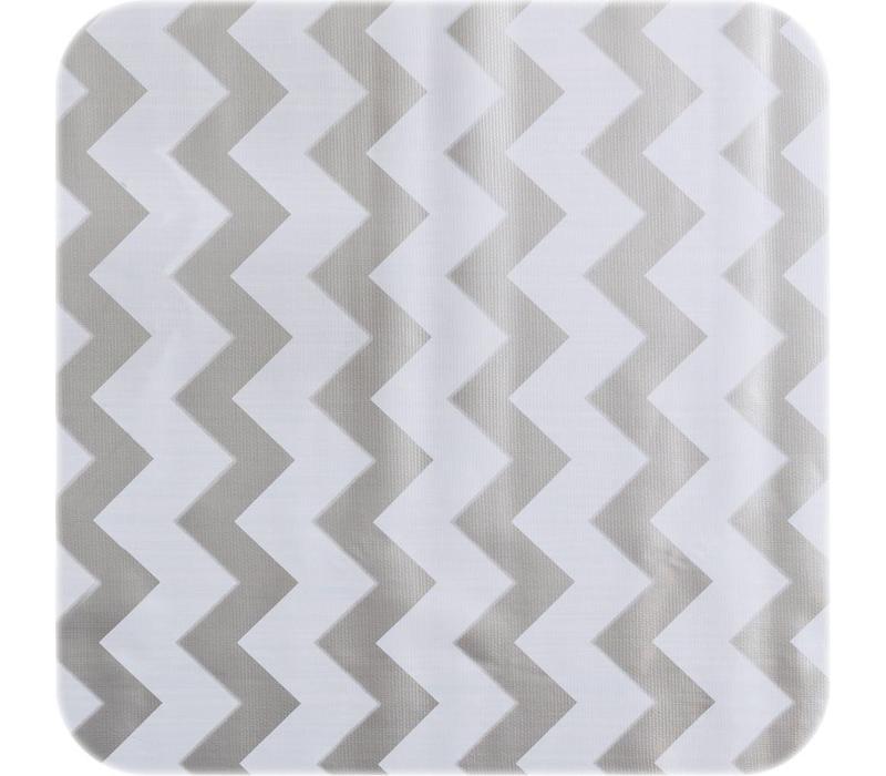 Mexicaans tafelzeil op rol Zigzag zilver 11m x 1,20m
