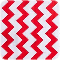 Tafelzeil Rond - Ø 120 cm - Zigzag - Rood