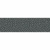 Tafelzeil Biertafel Eco Grijs met witte stipjes op rol 5m bij 70cm