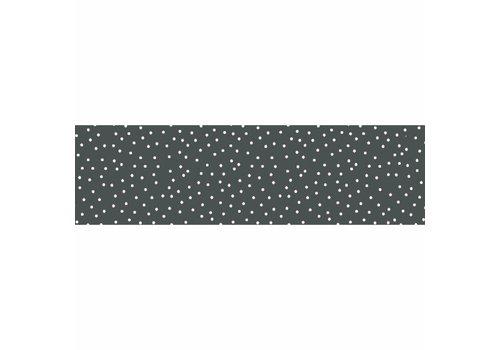 MixMamas Tafelzeil Biertafel Eco Grijs met witte stipjes op rol 5m bij 70cm
