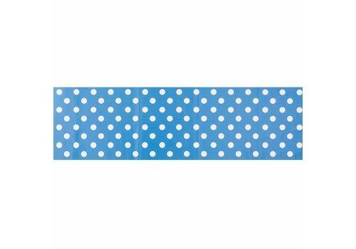 MixMamas Tafelzeil Biertafel Eco blauwwit grote stip op rol 5m bij 70cm