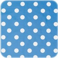 Tafelzeil Biertafel Eco blauwwit grote stip op rol 5m bij 70cm
