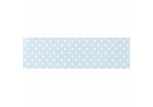 MixMamas Tafelzeil Biertafel Eco Lichtblauw met witte stippen op rol 5m bij 70cm