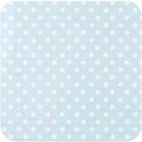 Tafelzeil Biertafel Eco Lichtblauw met witte stippen op rol 5m bij 70cm