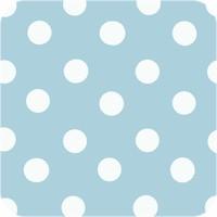 Tafelzeil Tafelloper - Grote Stip - Rol - 70 x 500 cm - Lichtblauw/Wit