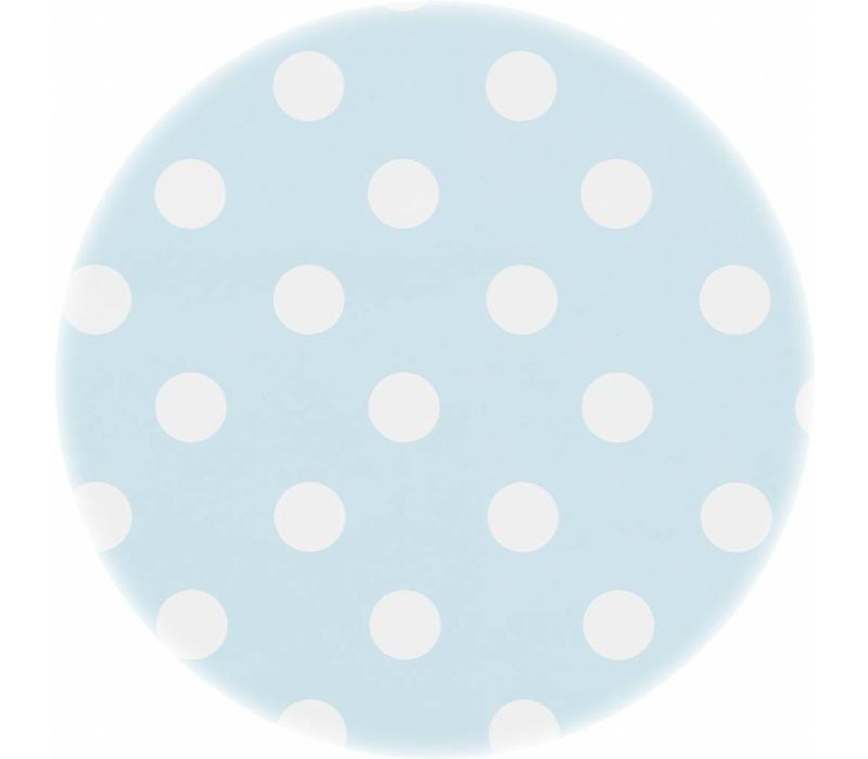 Tafelzeil Ovaal - 140 x 200 cm - Grote Stip - Lichtblauw/Wit