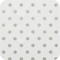 Tafelzeil Ovaal - 140 x 300 cm - Grote Stip - Wit/Zilver