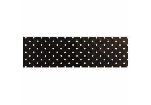 MixMamas Tafelzeil Biertafel Eco zwartwit grote stip op rol 5m bij 70cm