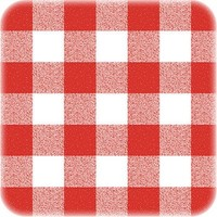 Ovaal tafelkleed Tafelzeil Eco ruitje rood 250 cm x 140 cm