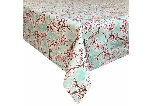 MixMamas Tafelzeil Kersenbloesem - 120 x 270 cm - Mintgroen