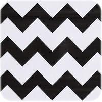 Mexicaans Tafelzeil Zigzag - 120 x 270 cm - Zwart