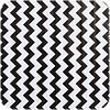 MixMamas Mexicaans Tafelzeil Zigzag - 120 x 270 cm - Zwart