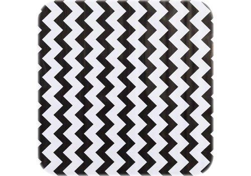 MixMamas Tafelzeil Zigzag - 120 x 270 cm - Zwart