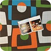 MixMamas Gecoat tafellinnen Geometrisch retro 300 x 140 cm