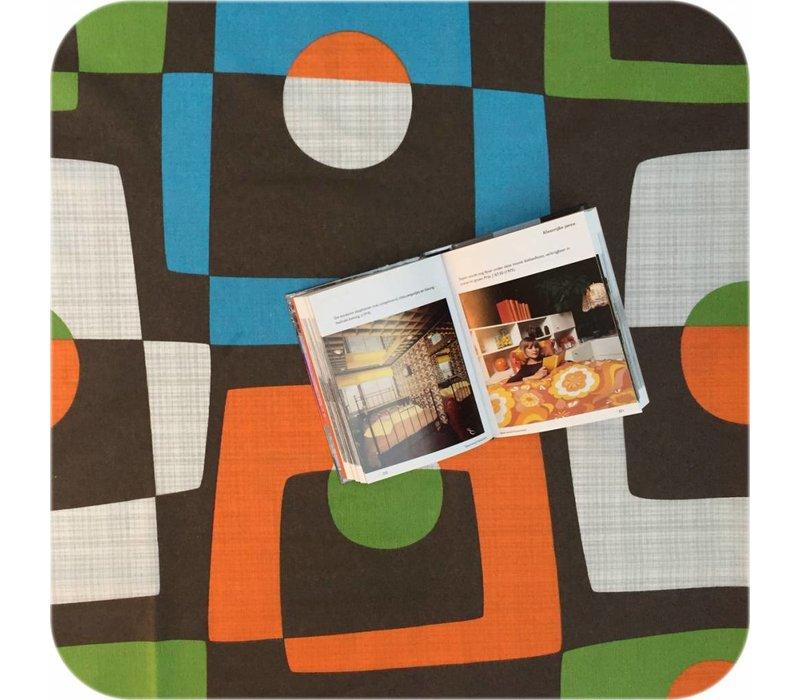 Gecoat tafellinnen Geometrisch retro 300 x 140 cm