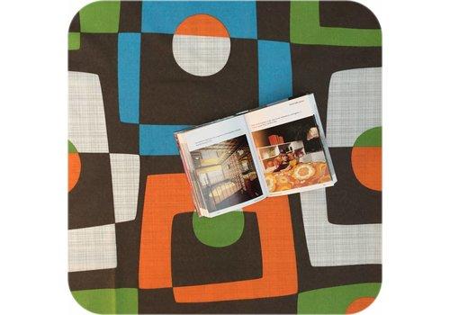 MixMamas Tafelkleed Gecoat Retro - 140 x 250 cm - Bruin/Oranje