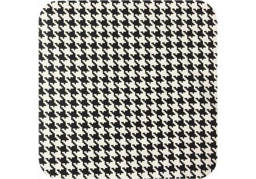 MixMamas Tafelzeil Pied de Poule - Rol - 120 cm x 11 m - Zwart