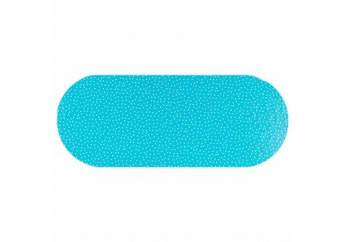 MixMamas Tafelzeil Eco Ovaal Blauw met witte stipjes 300 cm