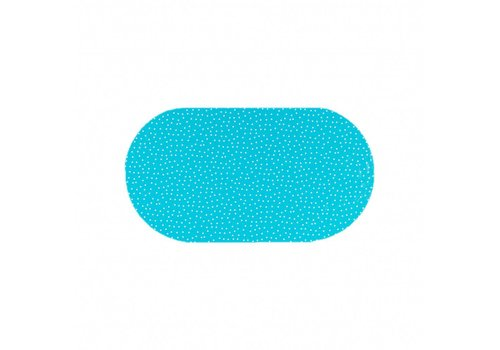 MixMamas Tafelzeil Ovaal - 140 x 200 cm - Stipjes - Blauw/Wit