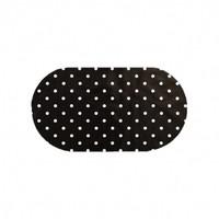 Tafelzeil Ovaal - 140 x 200 cm - Grote Stip - Zwart/Wit