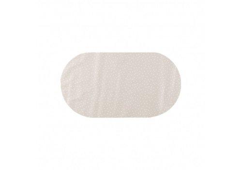 MixMamas Tafelzeil Eco Ovaal Beige met witte stipjes 200 cm