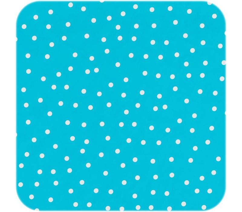 Tafelzeil Ovaal - 140 x 250 cm - Stipjes - Blauw/Wit