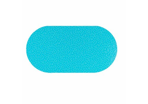MixMamas Tafelzeil Eco Ovaal blauw met witte stipjes 250 cm