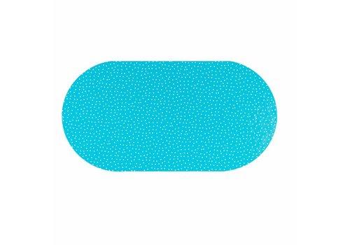 MixMamas Tafelzeil Ovaal - 140 x 250 cm - Stipjes - Blauw/Wit
