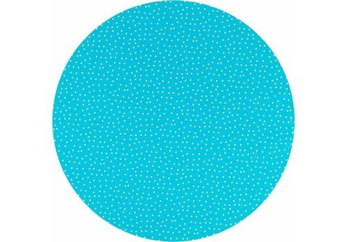 MixMamas Tafelzeil Eco Rond Blauw met witte stipjes 140cm