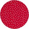 MixMamas Tafelzeil Eco Rond rood met witte stipjes 140cm