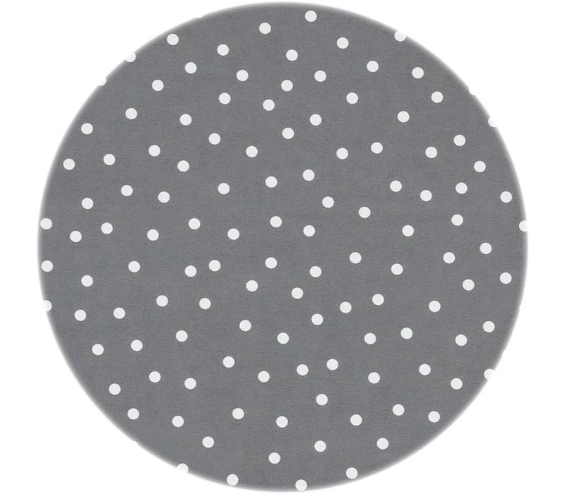 Tafelzeil Rond - Ø 140 cm - Stipjes - Grijs/Wit