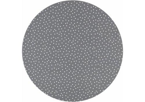 MixMamas Tafelzeil Rond - Ø 140 cm - Stipjes - Grijs/Wit