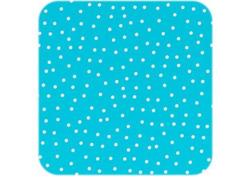 MixMamas Tafelzeil Stipjes - Rol - 140 cm x 20 m - Turquoise/Wit