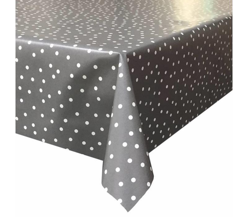 Europees Eco tafelzeil Rol 20m grijswit stipje 140cm