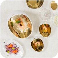 Tafelkleed Gecoat Linnen - 140 x 250 cm - Crème/Goud