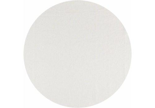 MixMamas Gecoat Rond Tafelkleed Linnen Wit met goud 160cm
