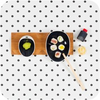 Cookplay Jomon Sushi set - Porselein - 29 x 11 x 4 cm - Zwart/Wit