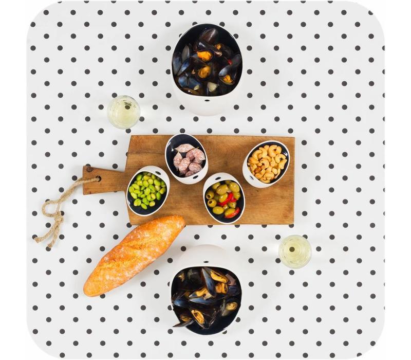 Cookplay Jomon Large Bowl porselein wit-zwart geschenkdoos