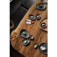 Cookplay Yayoi Beltz Dinerset - 4-delig - Mat Porselein - Zwart