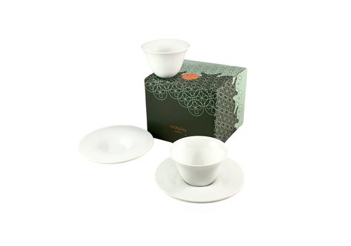 Cookplay Cookplay Fly Koffieset - 2-delig - Porselein - 125 ml - Ø 8,5 cm - Wit