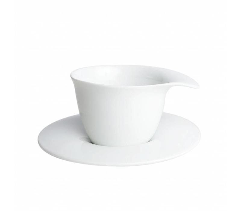 Cookplay Fly Theeset - 2-delig - Porselein - 250ml - Ø 9,5 cm - Wit