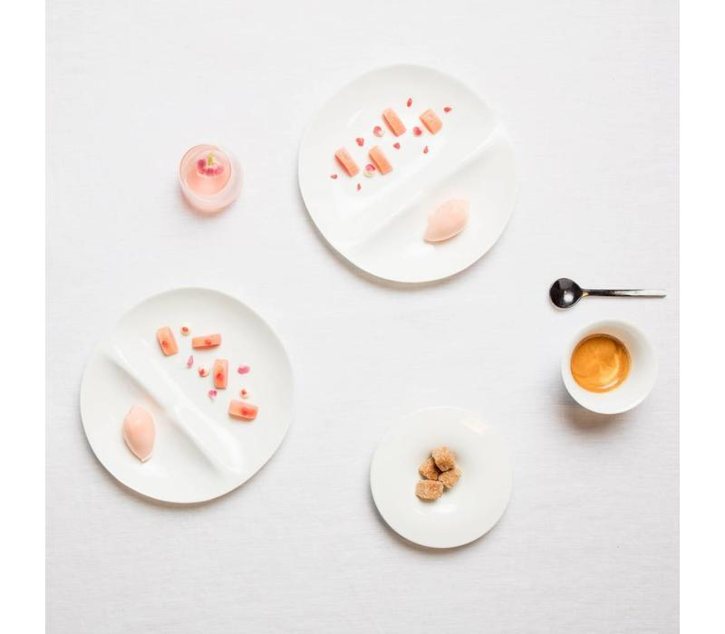 Cookplay Shell dessert bord wit porselein 2 delig
