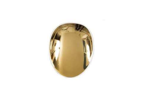 Cookplay Cookplay Jomon Small Schaaltje - Porselein - 14 x 11 cm - Goud/Wit