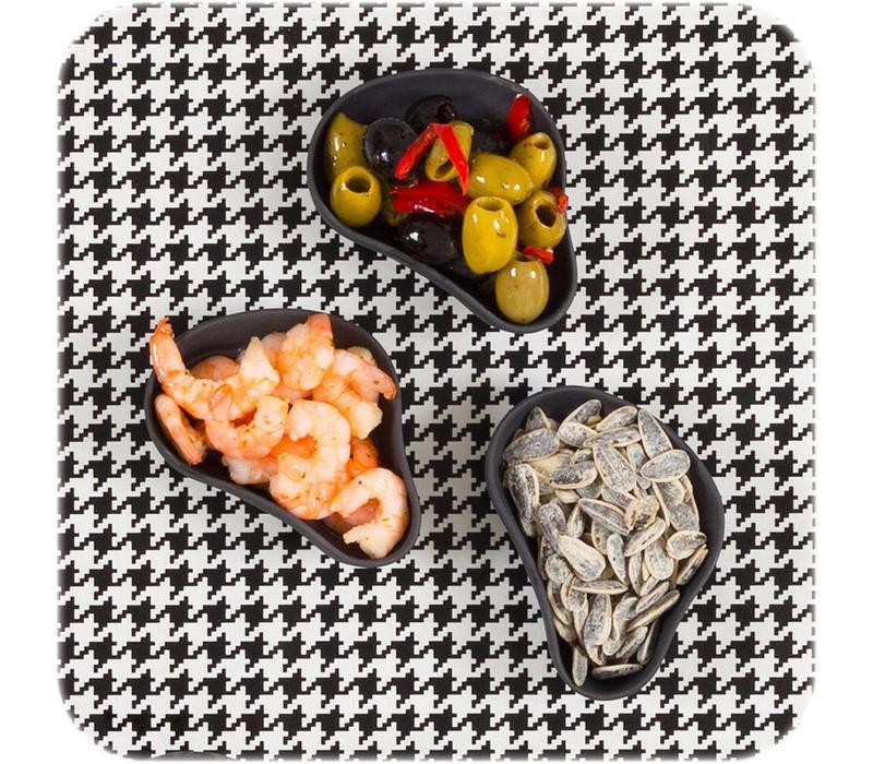 Cookplay Yayoi Appetizer - Schaaltjes- 6-delig - Mat Porselein - 10 x 6 cm - Zwart