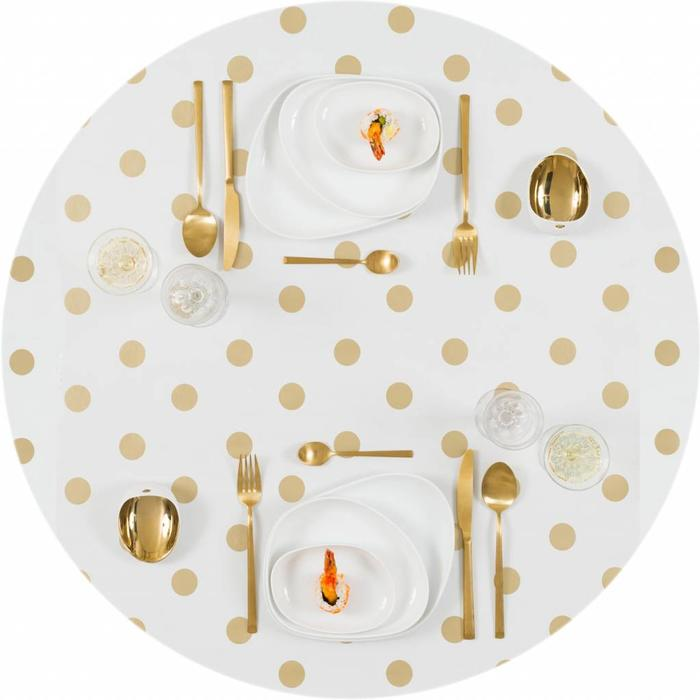 Feestelijk tafelkleed goudkleurig