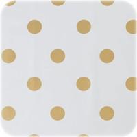Europees Eco tafelzeil Wit met gouden stippen 3M