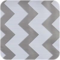 Mexicaans Tafelzeil Zigzag - 120 x 270 cm - Zilver/Wit